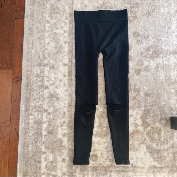 Free People Pants - Free People movement open knee leggings